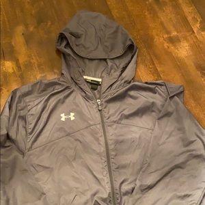 Under Armour Zip Up Rain/Wind Lightweight Jacket